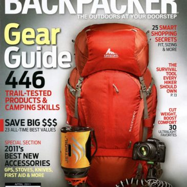Published work: Backpacker gear guide photography