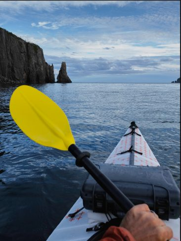 Sea kayaking in Trinity Bay, Newfoundland, Canada