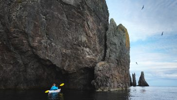 Sea kayaking Trinity, Newfoundland, Canada.
