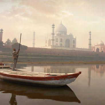 Taj Mahal river boat
