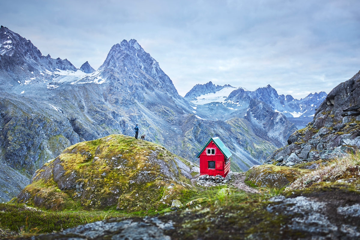 Mint Hut in the Talkeetna Mountains, Alaska