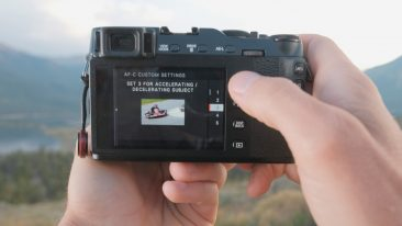 Fujifilm X-E3 AF-C custom settings