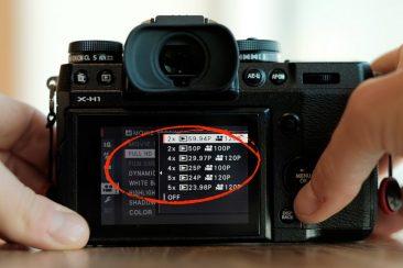 Fujifilm X-H1 120fps high speed recording