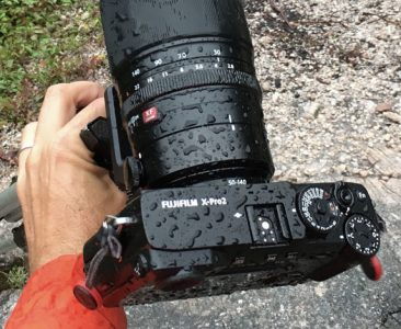 Fujifilm X-Pro camera weather sealing
