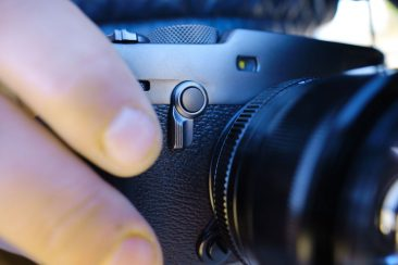 Fujifilm X-Pro3 camera viewfinder switch detail