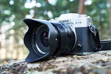 The Fuji X-T10 camera in nature