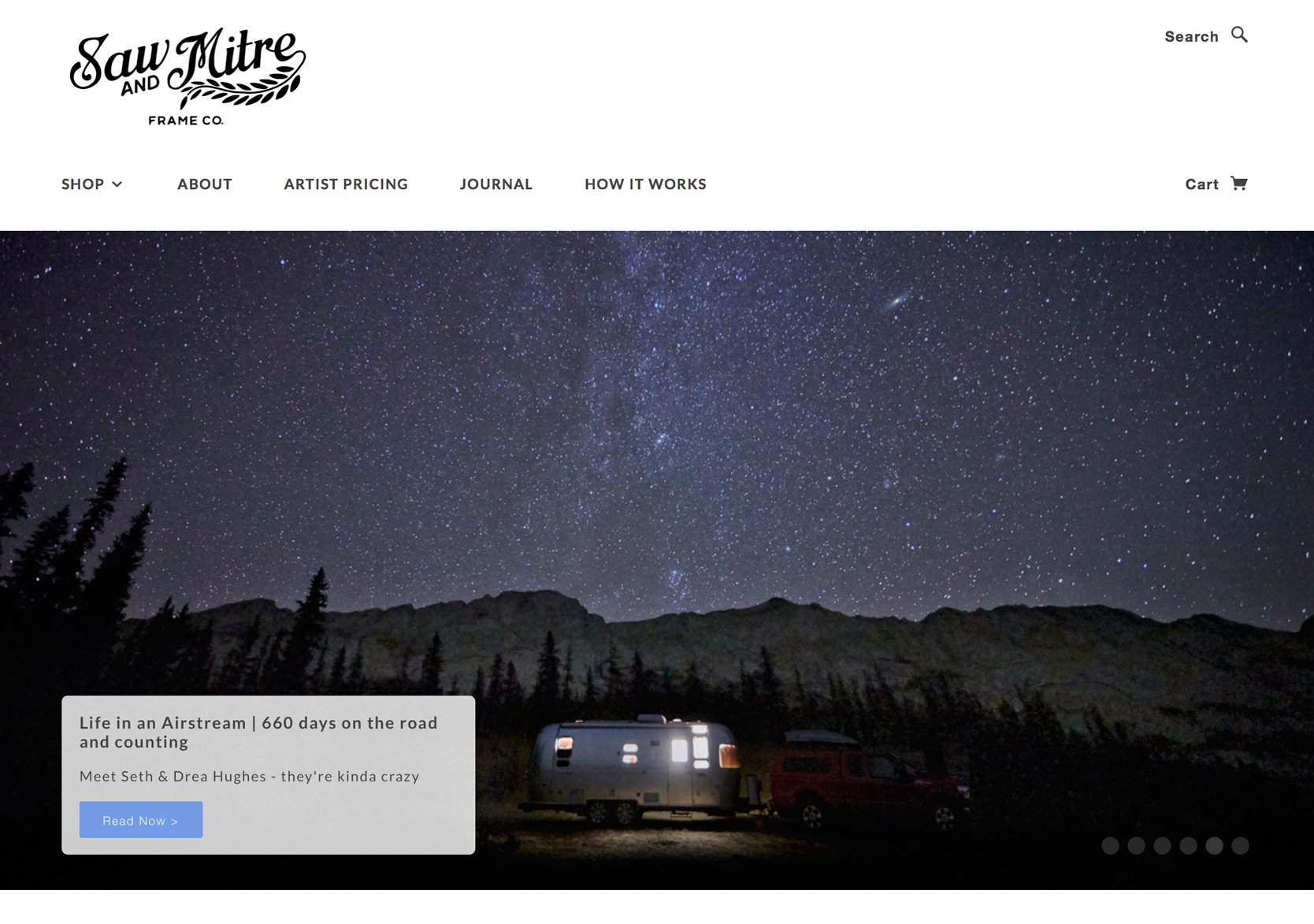 Airstream photo on Saw and Mitre blog post