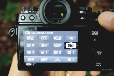 Fujifilm X-T1 quick menu