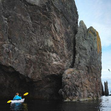 Sea kayaking Trinity, Newfoundland, Canada.