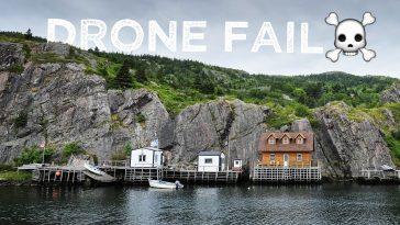 Drone fail St. John's, Newfoundland, Canada