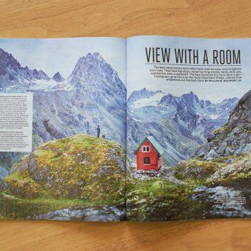 Mint Hut photograph for Backpacker magazine September 2017