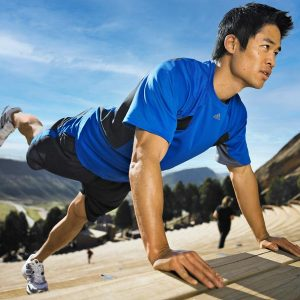 Fitness photograph at Red Rocks Amphitheater, Morrison, Colorado