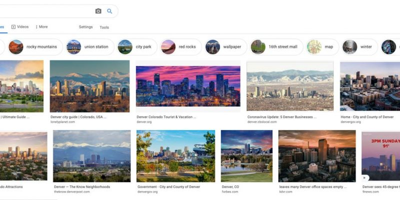 Find the best photography locations using Google Images